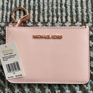 Michael Kors JST SM TZ Leather Coin Pouch W/ID